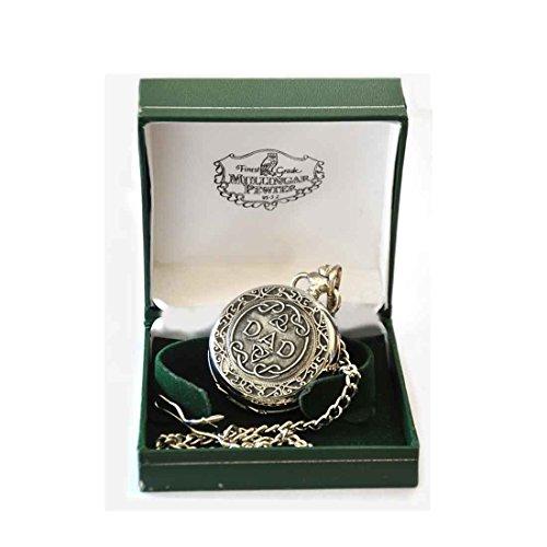 Mullingar Pewter Pocket Watch with Dad Design -