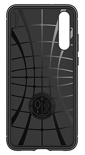 Spigen Rugged Armor HUAWEI P20 Pro Case with Flexible and Durable Shock Absorption with Carbon Fiber Design for HUAWEI P20 Pro (2018) - Black by Spigen (Image #7)