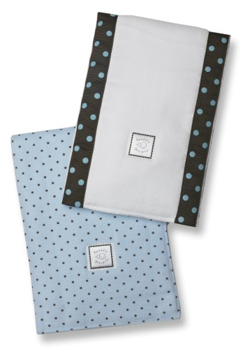 SwaddleDesigns Essentials, Set of 8 - Pastel Blue with Chocolate Brown by SwaddleDesigns (Image #3)