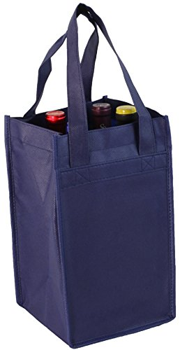 Navy Non-Woven Four-bottle Wine (Non Woven Bottle)