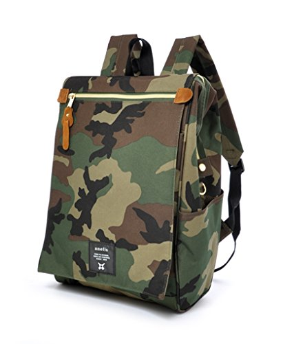 (Anello Polyester Canvas Waterproof Unisex Flap Backpack (Camouflage))