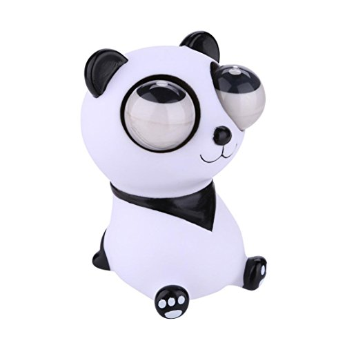 ys Pop Out Eyes,Stress Reliever,Lovely Panda Cartoon Animal,Squeeze Vent Toys,Kids Adults Gift ()