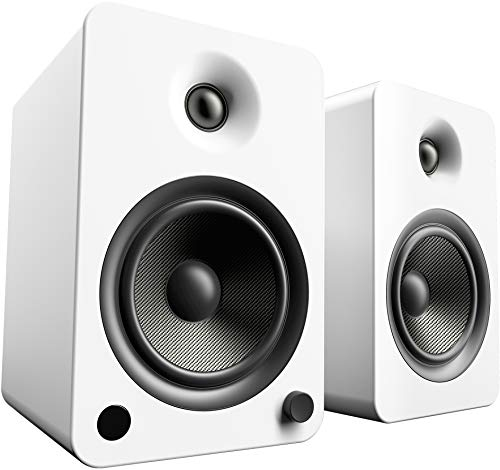 Kanto YU6MW Bluetooth Powered Speakers – 200 Watts – Phono Preamp (Matte White)
