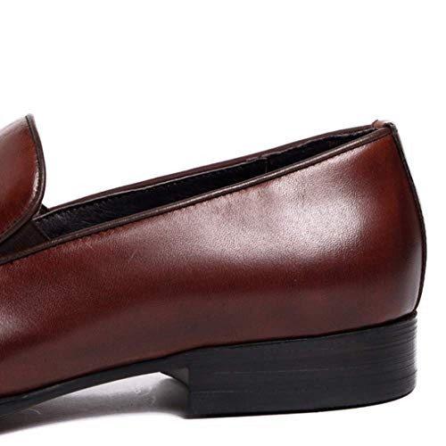 Gomma Business Indossabile Traspirante Scarpe brown Red in in Pelle Uomo Scarpe Pigro da Casual 37 zq0IT