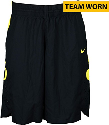 2013 Basketball Shorts (Oregon Ducks Team-Worn Men's Basketball Black and Yellow Shorts Used Between The 2011-2016 Seasons - Size 40 - Fanatics Authentic Certified)