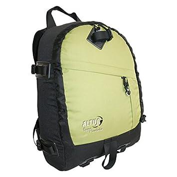 Altus 13502017 - Mochila esquí montaña, Unisex, Color Negro/Verde, Talla única: Amazon.es: Zapatos y complementos