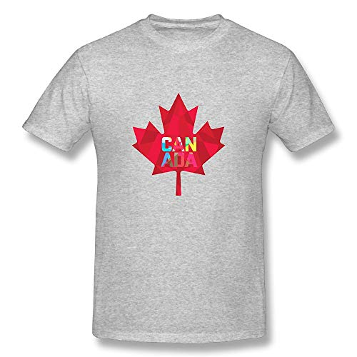 CENJOAN Canada Maple Leaf Logo Short Sleeve T-Shirt Cotton Tee Mens -