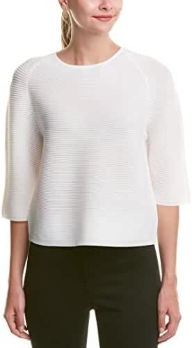 Anne Klein Womens Ribbed Knit Crew Neck Pullover Sweater