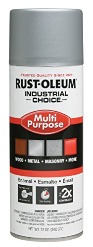 Rust-Oleum 1614830 Dull Aluminum 1600 System General Purpose Enamel Aerosol, 12 oz Container Size, Can (Pack of 6) by Rust-Oleum