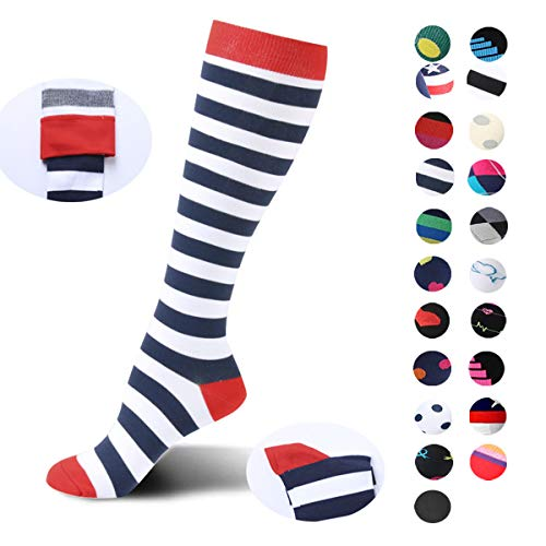 15-20mmHg Graduated Compression Socks Women Travel Nurse Running Pregnancy Medical Stockings