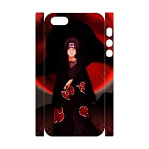 3D Print Hot Anime Series&Naruto Uchiha Itachi Sharingan Eye Theme Case Cover for iPhone 5/5S- Personalized Hard Cell Phone Back Protective Case Shell-Perfect as gift