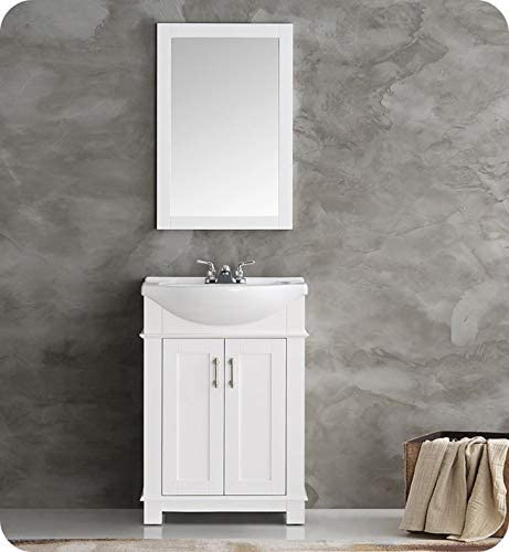 Fresca FVN2302WH-CMB Hartford 24″ White Traditional Bathroom Vanity
