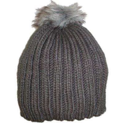 afd149fedcfa8 Amazon.com  Urbanology Womens Chunky Gray Knit Beanie Winter Hat ...