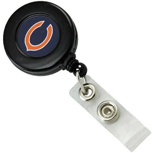 NFL Chicago Bears Black Badge Reel - Chicago Bears Retractable Badge Holder