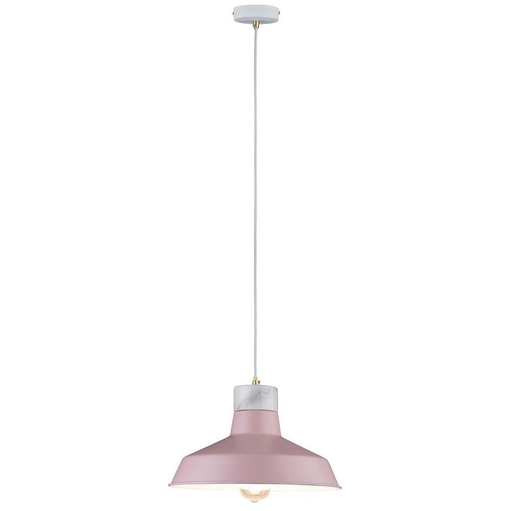 Paulmann - Deckenleuchte 79610 neordic DISA Maximum 1 x 20 W E27 pink weiß matt 230 V Metall Marmor