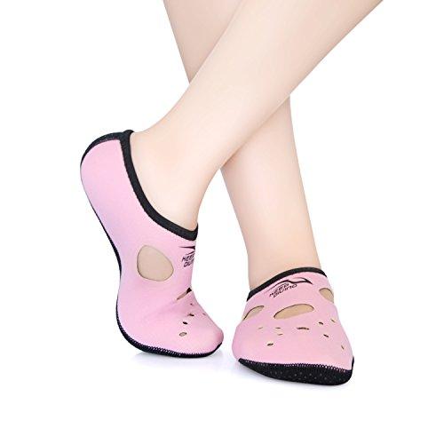 Water Socks,ViMall Freely 3mm Low cut Snorkeling Water Shoes/Neoprene Socks/Fin Socks/Secuba Diving Socks/Water Skin Shoes/Surfing Socks/Flippers Socks/Wetsocks Yoga for Men/Women (Pink, L)
