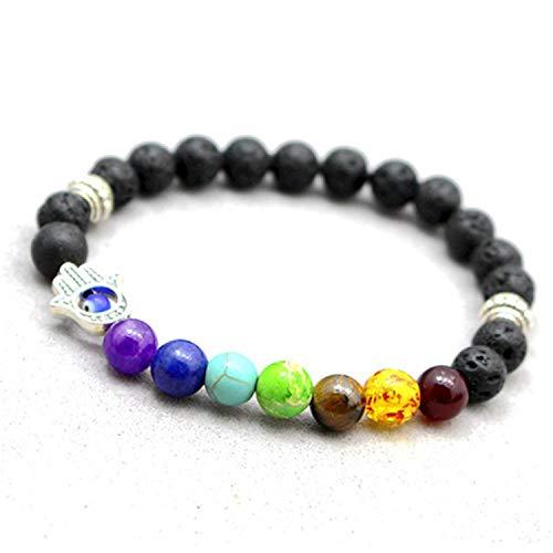 Guy-Sex Faddish New Newst 7 Bracelet Men Black Healing Balance Beads Buddha Prayer Natural Stone Yoga Bracelet for -