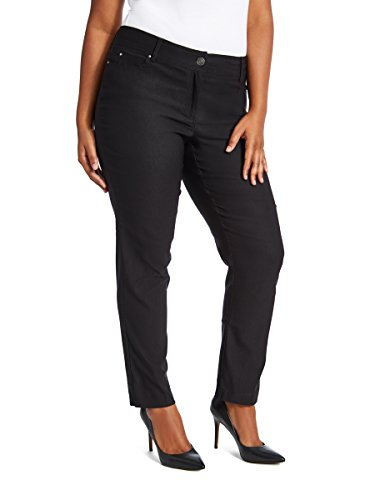 89th + Madison Women's Ultra Flattering Five Pocket Stretch Straight Leg Pants Black - Madison Black Boot