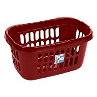 Wham High Grade Plastic Hipster Style Washing Linen Laundry Basket (Chilli Red) by Wham