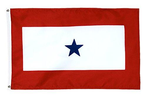 3' x 5' Nyl-Glo Service Star Flag