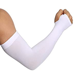UV Protection Cooling Arm Sleeves - UPF 50 Sun Sleeves with Hand Cover for Men & Women. Perfect for Cycling, Driving, Basketball, Football & Outdoor Activities. Performance Stretch & Moisture Wicking