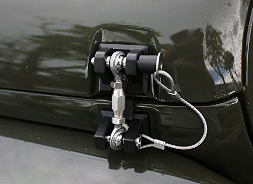 ICARS 2007-2018 Jeep Wrangler JK JKU Hood Latches Hood Lock Hood Catch Without Key, Retro Style, Stainless Steel, Black - Pair by ICARS (Image #8)