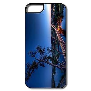 IPhone 5S Cover, Pennybacker Bridge Austin Cases For IPhone 5/5S - White/black Hard Plastic