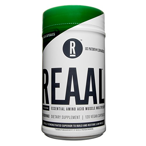 Cheap REAAL – REAAL Vegan Capsules, Helps Build, Restore, and Maintain Lean Muscle with Essential Amino Acids, Gluten Free, Bloat Free, Lactose Free, Caffeine Free, Vegan, 120 Capsules