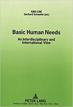 Book Basic Human Needs: An Interdisciplinary and International View