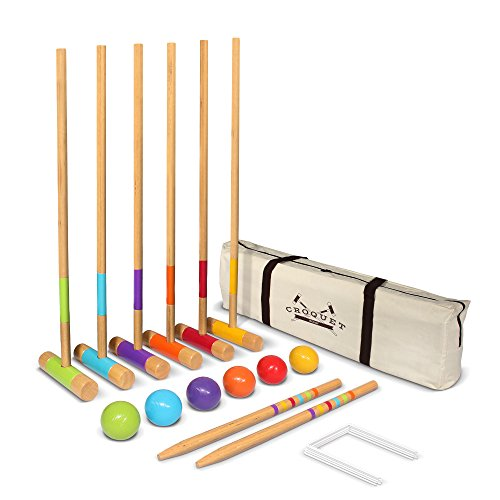 GoSports Premium Croquet Set for Adults & Kids – Choose Between Deluxe and Standard