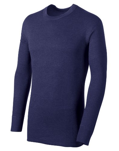 Duofold Men's Midweight Thermal Crew, Navy, (Crew Midweight Long Underwear)