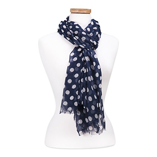 Tickled Pink Women's Game Day Sports Team Apparel Scarf or Wrap, Navy, 36 x 70
