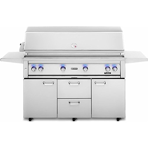 Lynx L54PSFR-2-NG Natural Gas Grill-On Cart with Pro Sear Burner and Rotisserie, 54-Inch Electrical Distributing Inc (L&G In-network)