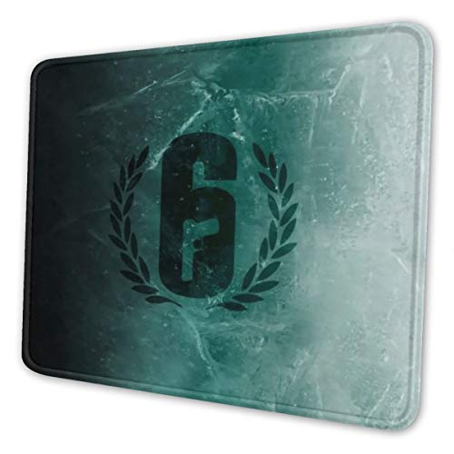 Rainbow Six Siege Gaming Mouse Pad Keyboards Mouse Mat Non-Slip Rubber Game Mousepad with Stitched Edge Wrist Rests Multifunctional Big Office Desk Pad for Pc Computer Laptop 8.3 X 10.3 in
