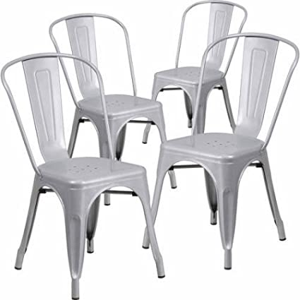 Incredible Amazon Com Love Us Set Of 4 Versatile Metal Indoor Outdoor Lamtechconsult Wood Chair Design Ideas Lamtechconsultcom