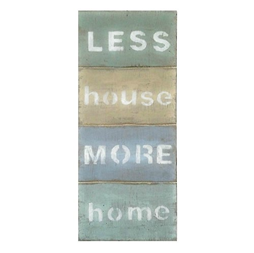 Aged Sage - Less House More Home Wood Sign 5 x 12 Inches