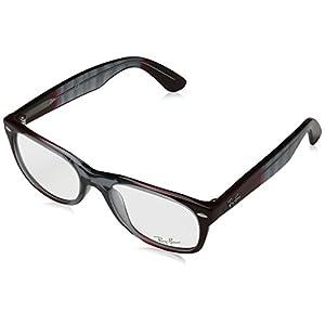 Ray-Ban RX5184 5517 New Wayfarer Eyeglasses Gradient Grey On Bordeaux