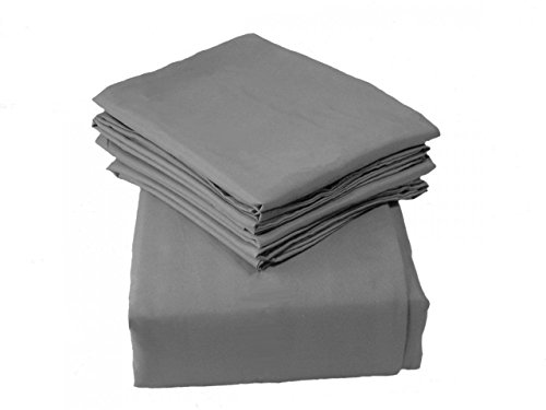 Regal Comfort Luxury Solid Color Gray 2100 Series 6 Piece Sheet Set, (King, Queen, Or Full)