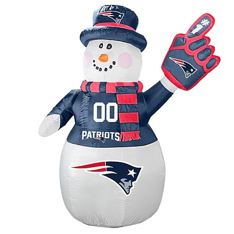 (Boelter Brands NFL New England Patriots Inflatable Snowman, 7ft)