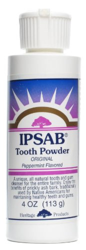 Heritage Products Ipsab Tooth Powder Peppermint -- 4 - Ipsab Powder Heritage Tooth