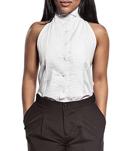 Henry Siegel Women's Tuxedo Shirt Poly/Cotton Halter Top, X-Large