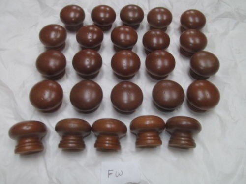 Twenty-Five (25) New Factory Maple Finished KNOBS Various Colors 1 1/4'' X 1 1/2'' (Walnut FW) …