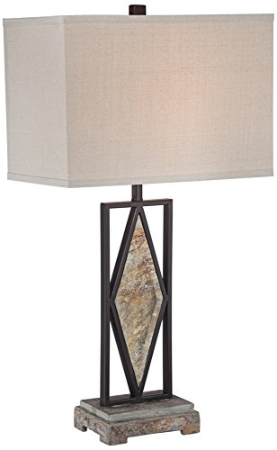 Asian Metal Table Lamp - 4