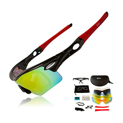 Sports Sunglasses by 3STN -Outdoor Cycling,Running,Ski Sunglasses for Men, - Ski Sunglasses