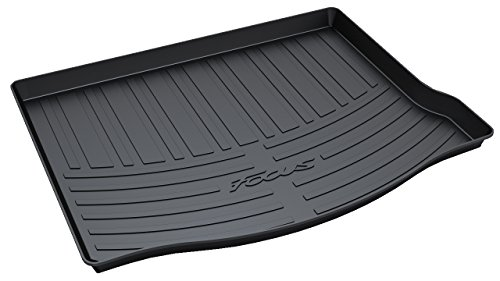 Ford Focus Cargo Liner (Vesul Rubber Rear Trunk Cargo Liner Trunk Tray Floor Mat Carpet Cover for Ford Focus Hatchback 2012 2013 2014 2015 2016 2017)