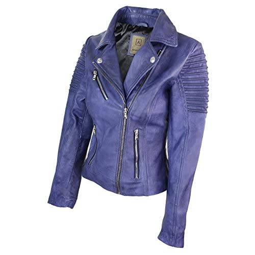 "Man Echte Lederjacke ""Biker Stil"" Made in Italy:"