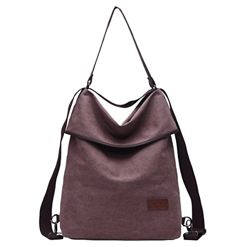 Shoulder Women Bag Bag Handbag Women Backpack Travistar Canvas Coffee Multifunctional Vintage qwTnax