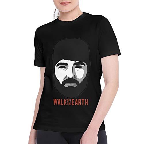 CAMERON MORLEY T Shirts for Women Classic Walk Off The Earth - Hipster Beard T-Shirt XXL Black (Beard Man T Shirt Walk Off The Earth)