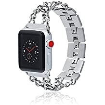 Apple Watch Band - BOND - 38mm 42mm Stainless Steel Metal Replacement Wristband for Apple Watch Nike+, Series 3, Series 2, Series 1 More Colors Available