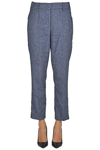 No Brand Women's Mcglpns03000e Blue Linen Pants by no!no!